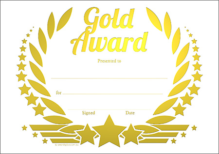 Awards Certificate Gse Bookbinder Co