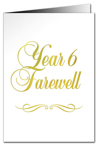 greeting cards year 6 farewell card metallic print
