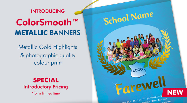 Colorsmooth Metallic Banners
