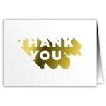 Thank You Card - Metallic