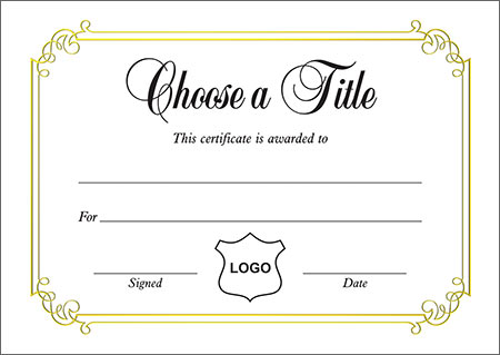 Certificates A6 Size Personalised A6 Certificate
