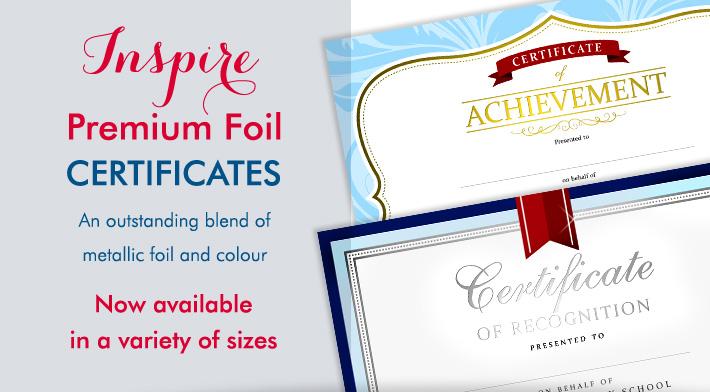 Inspire Premium Foil Certificates
