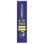 Student of the Week with blocks & books