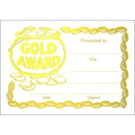 Gold Award Metallic Generic A5