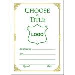 Certificate A6 - Border K (Design 3)