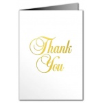 Thank You Card - Metallic
