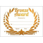 Bronze Award Wreath Metallic Generic A7