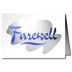 Farewell Card - Metallic Print