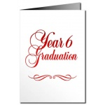 Year 6 Graduation Card - Metallic Print