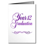 Year 12 Graduation Card - Metallic Print [CLONE]