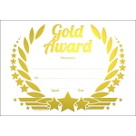 Gold Award Wreath Metallic Generic A5