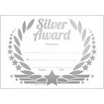 Silver Award Wreath Metallic Generic A6