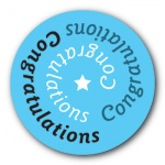 Congratulations - 35mm Sticker