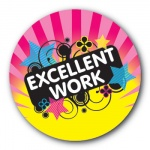 Excellent Work - 25mm Sticker