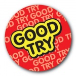 Good Try - 25mm Sticker