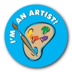 I'm an Artist - 35mm Sticker
