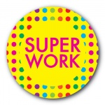 Super Work - 25mm Sticker