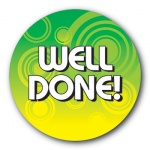 Well Done - 25mm Sticker