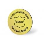 Engraved Name Badge - Circle