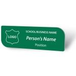 Engraved Name Badge - Leaf