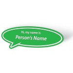 Engraved Name Badge - Speech