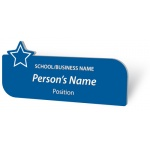 Engraved Name Badge - with Star
