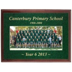 Full Colour Plaque with Gold Engraving