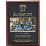 Full Colour Rosewood Plaque with Gold