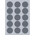 Circle Label - 50mm (15/Sheet)