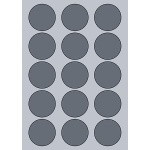 Circle Label - 53mm (15/Sheet)