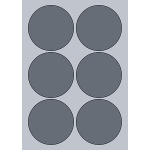 Circle Label - 90mm (6/Sheet)