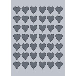 Heart Label - 28x30mm (42/Sheet)