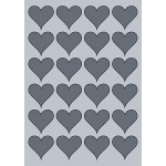 Heart Label - 45x41mm (24/Sheet)