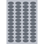 Oval Label - 38x20mm (48/Sheet)