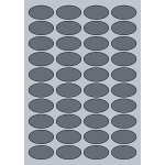 Oval Label - 45x25mm (40/Sheet)