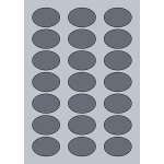 Oval Label - 50x35mm (21/Sheet)
