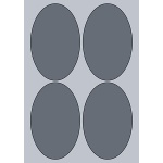 Oval Label - 90x140mm (4/Sheet)