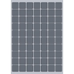 Square Label - 25x25mm (70/Sheet)