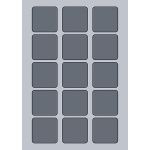 Square Label - 50x50mm (15/Sheet)