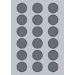 Starburst Label - 42x42mm (18/Sheet)
