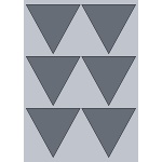Triangle Label - 90x99mm (6/Sheet)