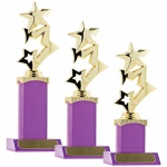 Stars on Block Trophy - Magenta