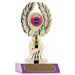 Wreath on Base Trophy - Magenta