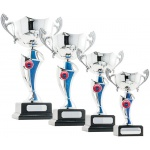 Twist Cup Trophy - Blue/Silver