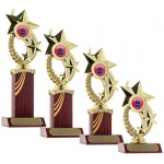 Star Wreath Trophy - Rosewood