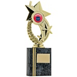 Star Wreath Block Trophy - Slate