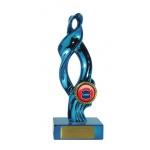 Swirl Trophy - Blue