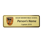 Brass & Colour Name Badge
