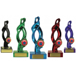 Swirl Trophy - Purple