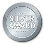 Silver Award - 25mm Sticker